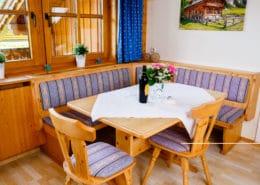 Appartement Sonnblick Wohnraum mit Sitzecke