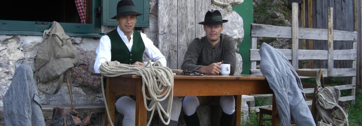 Hans und Api Prugger als Franz und Irg Steiner