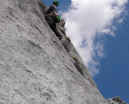 Kletterroute am Koppenkarstein
