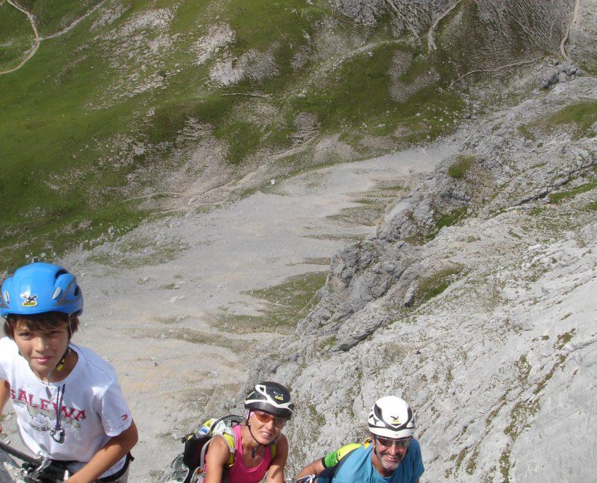 3 Generationen am Klettersteig Sinabell