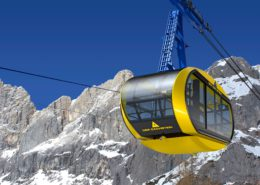 Panorama gondola of Dachstein Seilbahn