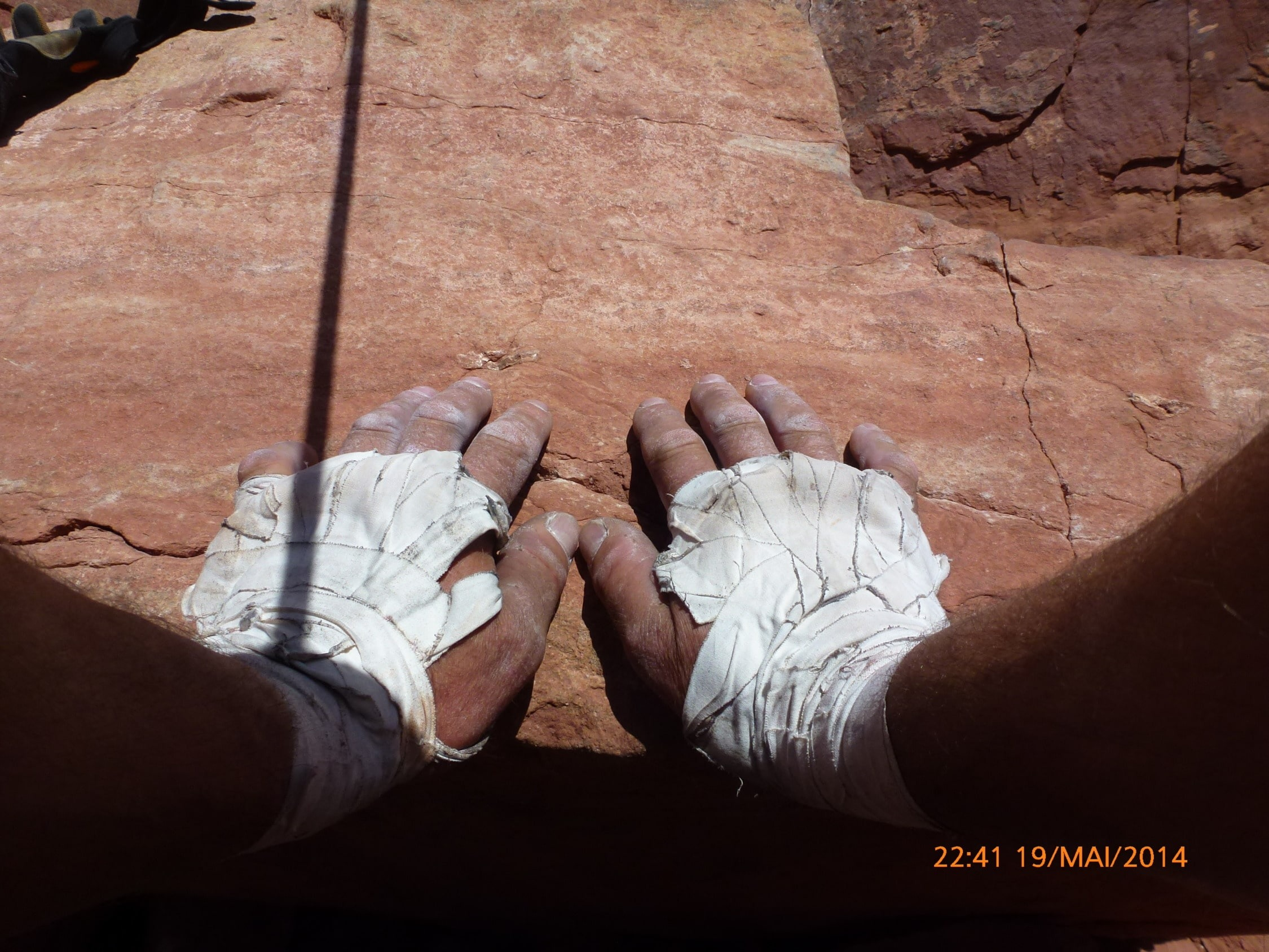 Climbing hands in Moab