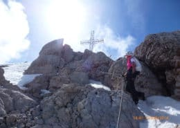 On the way to Dachstein summit