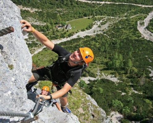 Klettersteig Siega in der Silberkarklamm