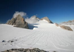 Dachstein glacier with cross country slopes