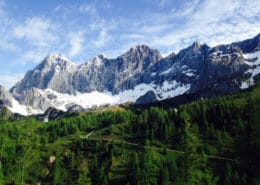 The Dachstein south walls in springtime