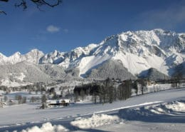 High plateau of Ramsau am Dachstein in winter