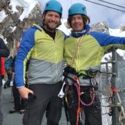 Sebastian Ströbel und Bergführer Hans Prugger